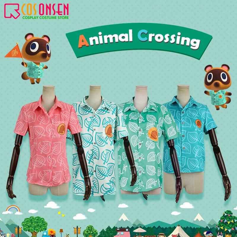 Animal Crossing camiseta Tom Nook Timmy y Tommy Isabel Cosplay camisa traje hombres mujeres niño Tops de manga corta