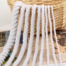 Cordes à cordes torsadées en coton Beige   1 mètre, 4mm-20mm, ceinture à ficelle épaisse en coton pour décoration faite à la main