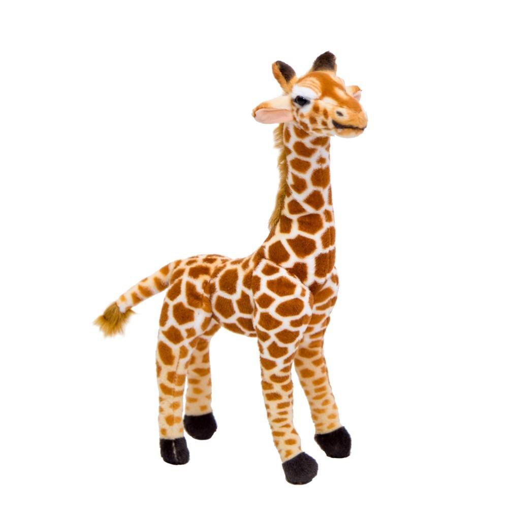Красивые популярные милые плюшевые игрушки жирафа для детей, имитация оленя, чучела, кукла, подарок на день рождения, Прекрасный домашний де...