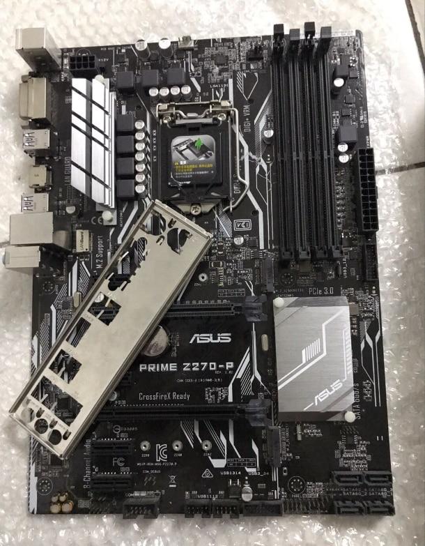 Original placa base para ASUS PRIME Z270-P DDR4 LGA 1151 64GB DVI...