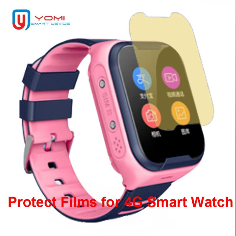 HD Soft Protect Films for Smart Watch Kids 4G GPS Watch Clock Explosion-proof TPU Protector for Glass Screen Wristwatch Baby