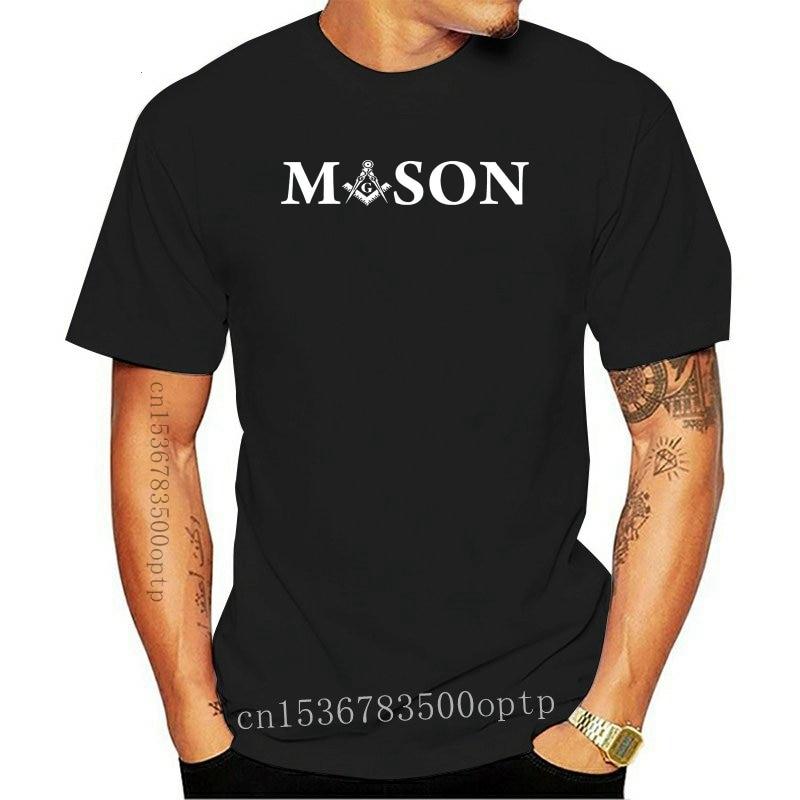 New Mason - Freemason Logo Square  Compass T-shirt  boyfriend gift  Short  Casual  O-Neck  t shirts