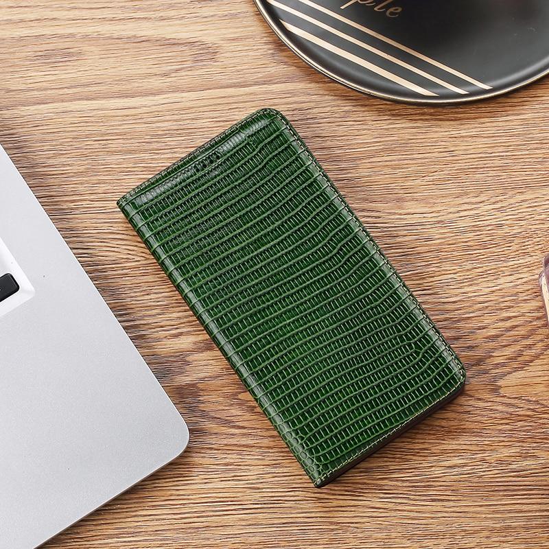 Lagarto patrón genuino Funda de cuero para iphone 5s Se 6 6s 7 8 Plus Xs Xr 11 5,8 Pro 6,1 Max 2020 espera, billetera con Flip magnético cubierta