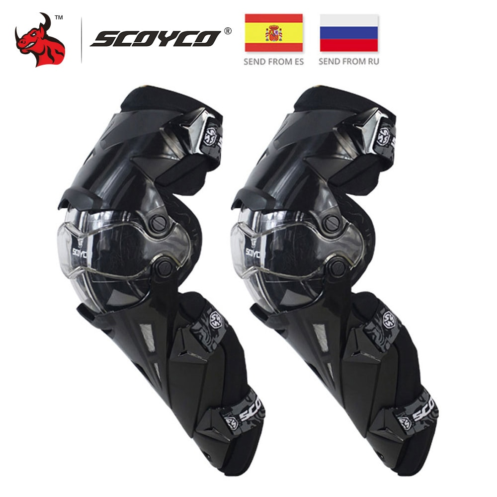 SCOYCO Motorcycle Knee Pads CE Motocross Knee Guards Motorcycle Protection Knee Protector Racing Gua