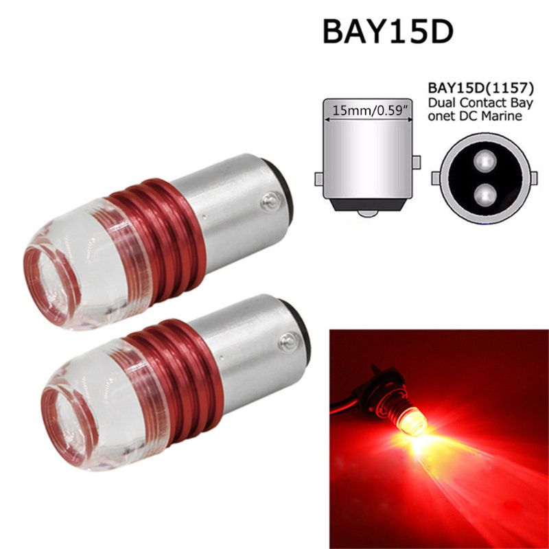 2 uds. Bombillas de proyector LED estroboscópicas rojas 1157 para luces de freno traseras de coche accesorios de estilo de coche