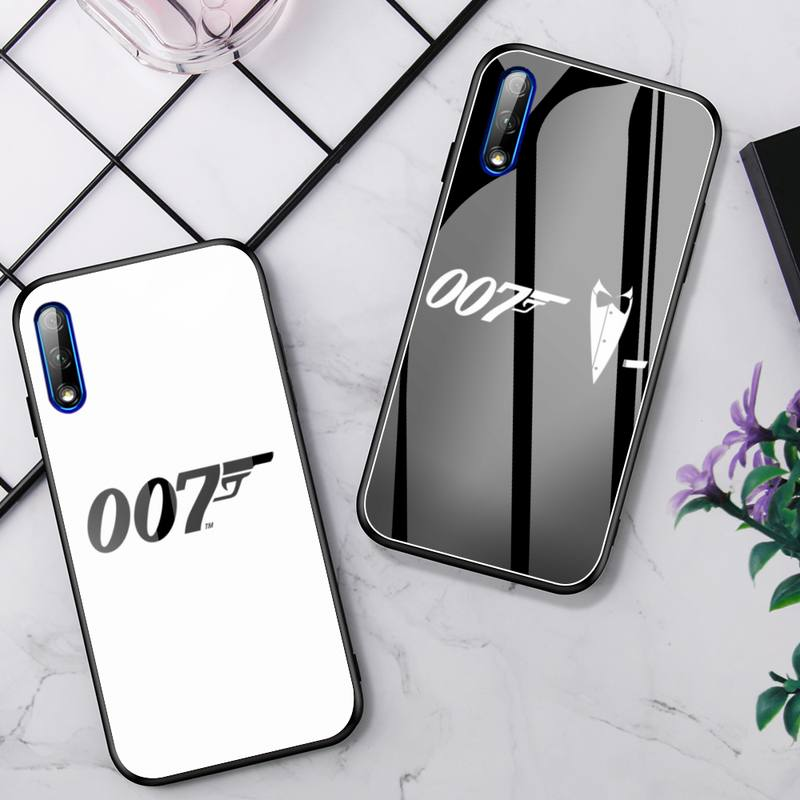 Movies James Bond 007 Phone Case For Huawei P9 10Plus 20PRO P30 Lite Back Cover Tempered Glass Cases For NOVA 3E Series