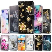 Cute Flip Leather Case For Samsung Galaxy A02 M02 A02S M02s A12 M12 A32 A52 A72 5G Case Book Wallet