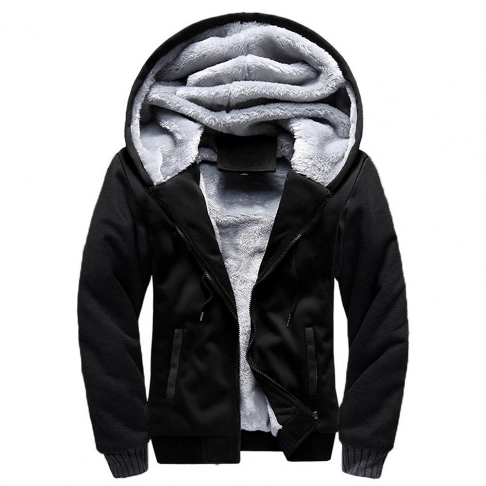 Новинка 2021, мужские толстовки, зимние толстые теплые флисовые мужские толстовки на молнии, пальто, спортивная одежда, мужская уличная одежд...