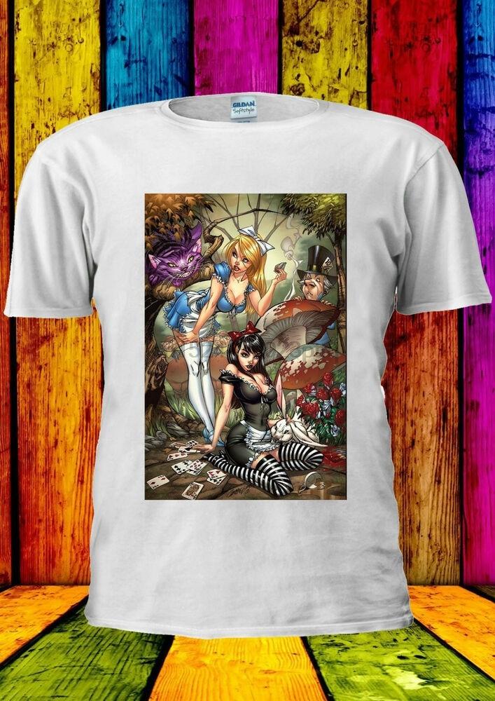 Princesa alice sexy gato cheshire camiseta vesttanktop masculino feminino unisex 444