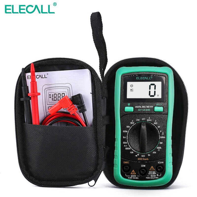 ELECALL EM33S Multifunction digital multimeter DC AC NCV Temperature test voltmeter fusing-alarm high accuracy backlight