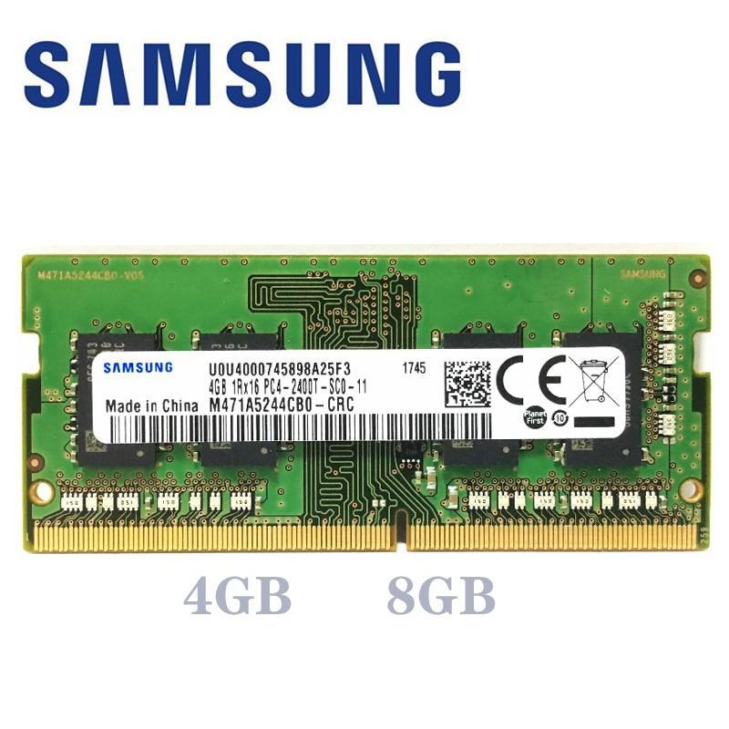Ordenador portátil Samsung ddr4 ram 8gb 4GB 16GB PC4 de 2133MHz o 2400MHz 2666Mhz 2400T o 2133P 2666v DIMM portátil de memoria 4g 8g 16g ddr4
