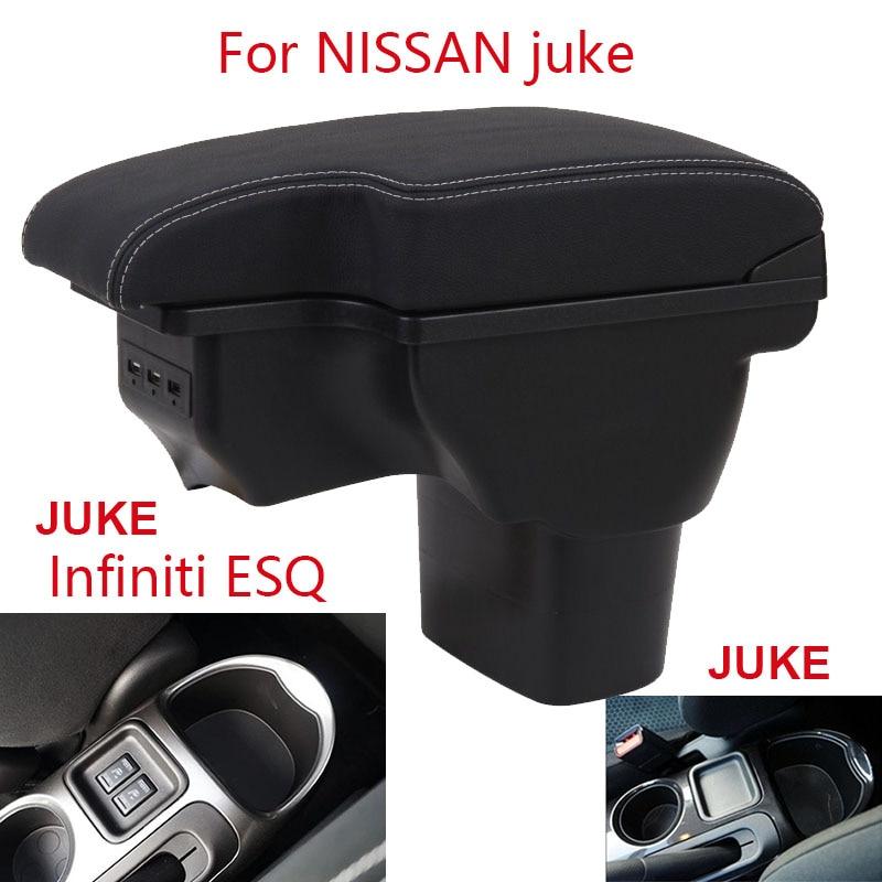 For NISSAN juke Armrest 2014 2015 2016 2017  For Infiniti ESQ Car armrest  box accessories interior storage box Retrofit parts
