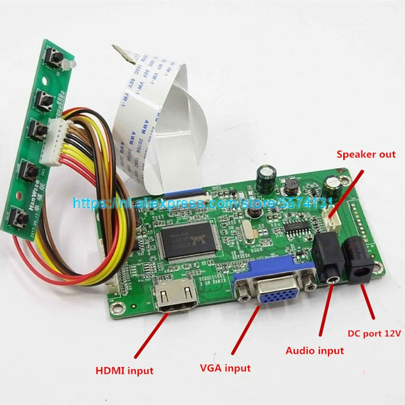 Frete grátis kit para N116HSG-WJ1 b133han03.0 b140han01.0 hw2a b140han01.1 hdmi + vga lcd led lvds edp placa controlador driver