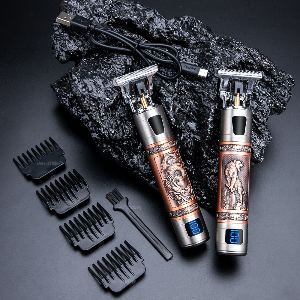 Professional LCD Hair Trimmer Men's Rechargeable Hair Clipper Electric Hair Beard Clipper Barber Hair Cutting Machine For Men professional lcd hair trimmer men s rechargeable hair clipper electric hair beard clipper barber hair cutting machine for men