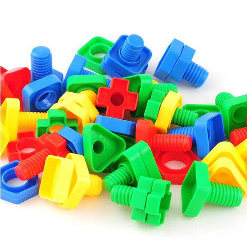 Bolts Toys Child Montessori Screw Building Blocks Interesting Toys Preschoolers Kids Educational Building Girls Baby Toys