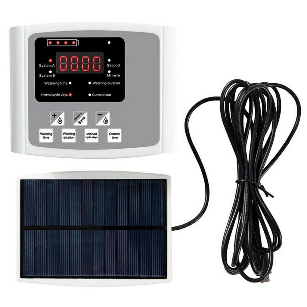 نظام الري التلقائي في الأماكن المغلقة تعمل بالطاقة الشمسية جهاز الري بالتنقيط آلة سقي السيارات ، مضخة مزدوجة ، رمادي ، 10 م