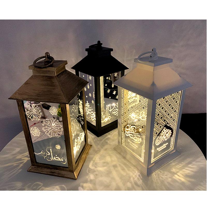 New Wind Lights Ramadan Lantern LED Decoration for Home Scene Holiday Gifts Handicraft Ornaments Isl