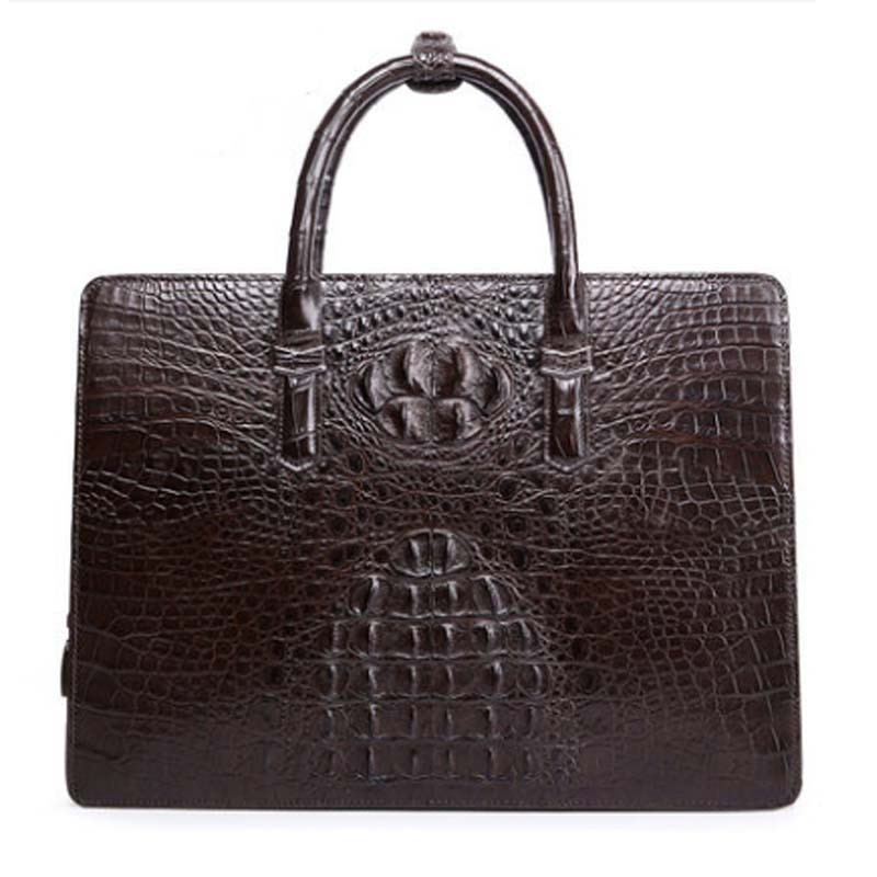 kafandi new crocodile men handbag crocodile leather bags male business bag men  high-end  male crocodile handbags