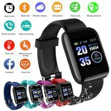 D13 116 artı akıllı saat bilezik Bluetooth 4.2 kalp hızı akıllı bileklik spor saatler akıllı bant su geçirmez Smartwatch