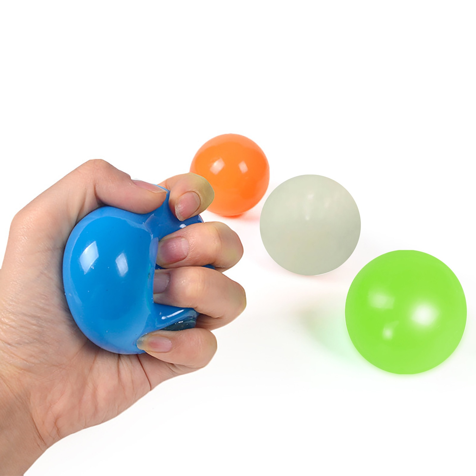 Fluorescent Sticky Wall Ball Sticky Target Ball Decompression Toy Kids Gift Fidget Toys Toys For Adults 18 Stress Stress Ball enlarge