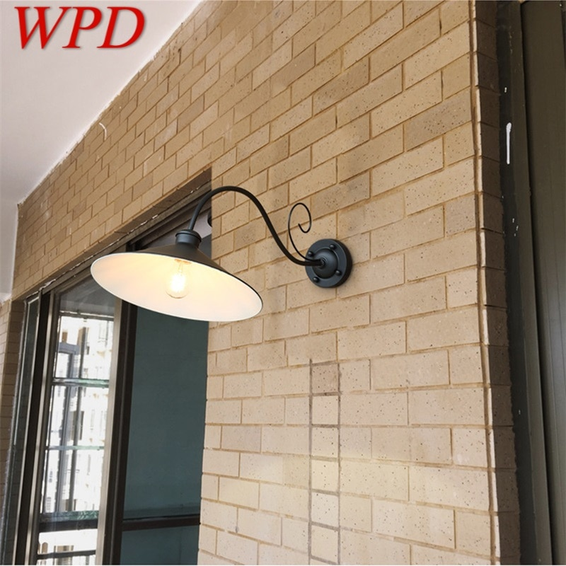 WPD Wall Lamp Outdoor Classical Sconces Light Waterproof Horn Shape Home LED For Porch Villa