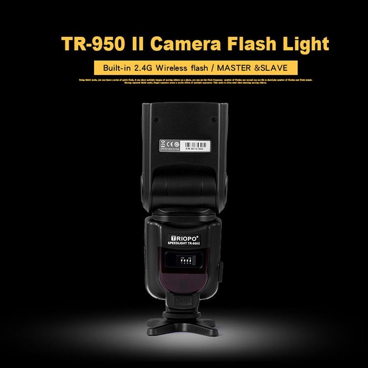 Triopo TR-950II Flash Light Speedlight Speedlite Universal for Fujifilm Nikon Canon 650D 550D 450D 1100D 60D 7D 5D Camera enlarge