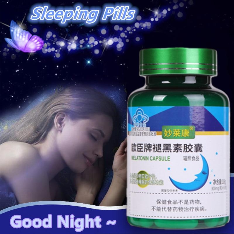 Sleeping Pills Strength Melatonin Help Improve Sleep Night Time Aid Fast Dissolve Dietary Supplement Promotes Relaxation Health