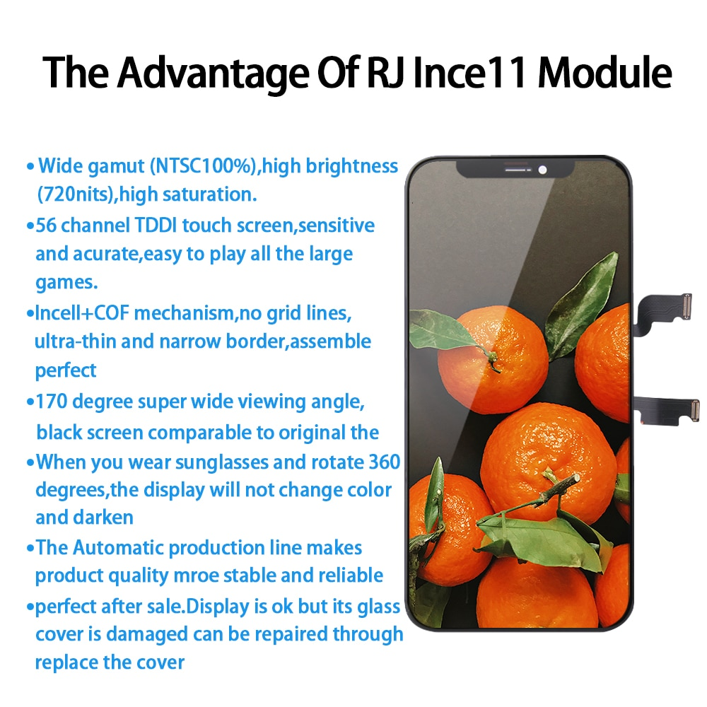 AAA+++RJ Incell LCD for IPhone 11 Pro Max Screen Display Replacement Digitizer Assembly Touch Pantalla Perfect Repair Phone LCD enlarge