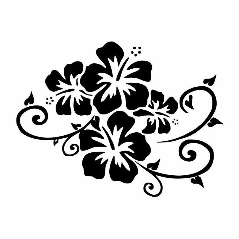 Красивые цветы, автомобильные наклейки, модное украшение для тела, окна, ПВХ водонепроницаемая Солнцезащитная наклейка, можно настроить цв...