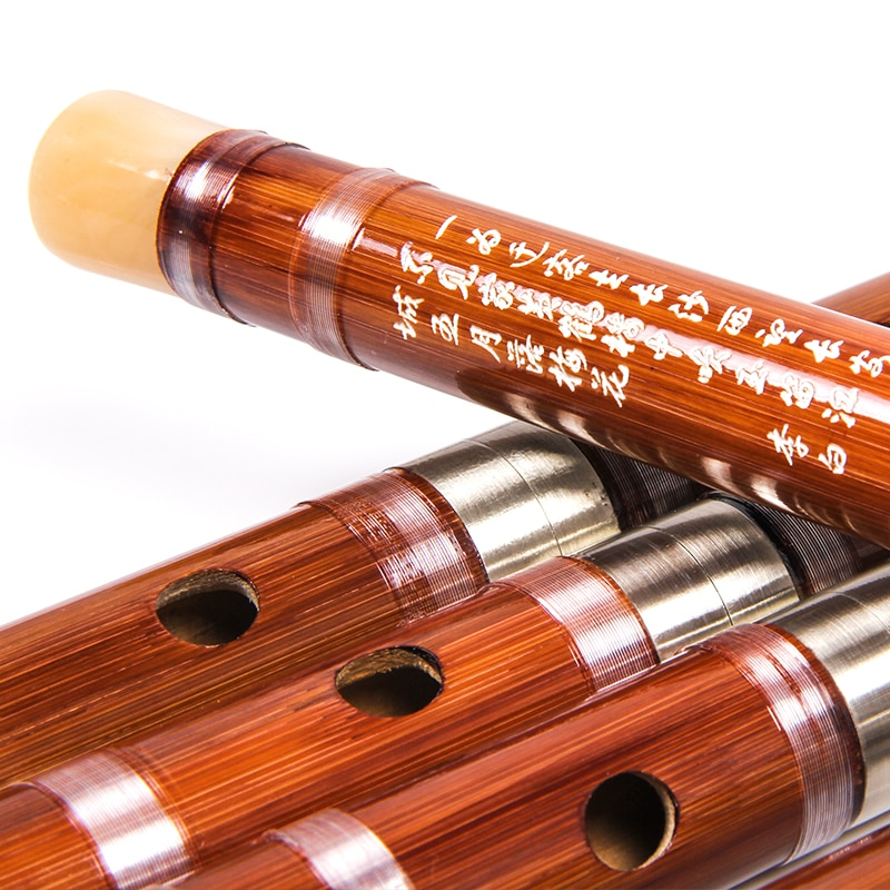 FLOFAIR Bamboo flute C D E F G Multi-tone optional students learning flute playing instruments primary color bamboo flute enlarge