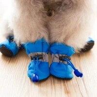 4pcs antiskid puppy shoes pet protection soft soled pet dog shoes summerwinter waterproof prewalkers soft supplies pet paw care