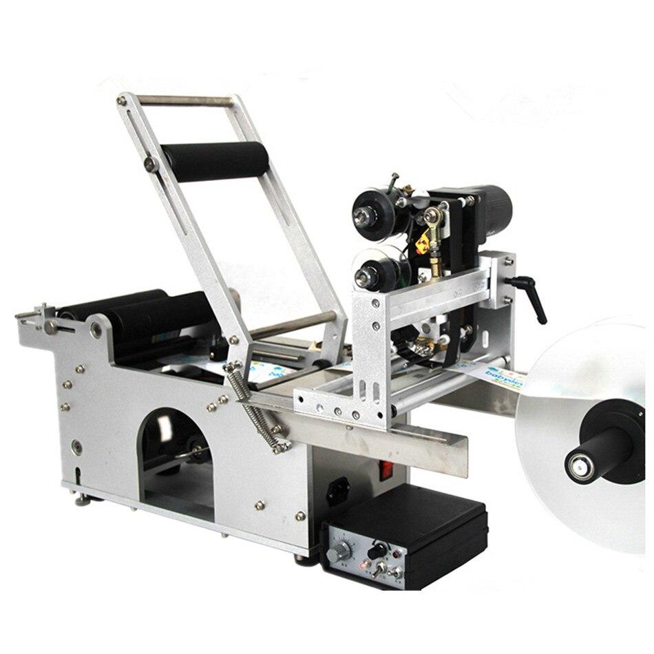 Precio de fábrica más Popular máquina de etiquetado de botellas de e-líquido con impresora de Fecha