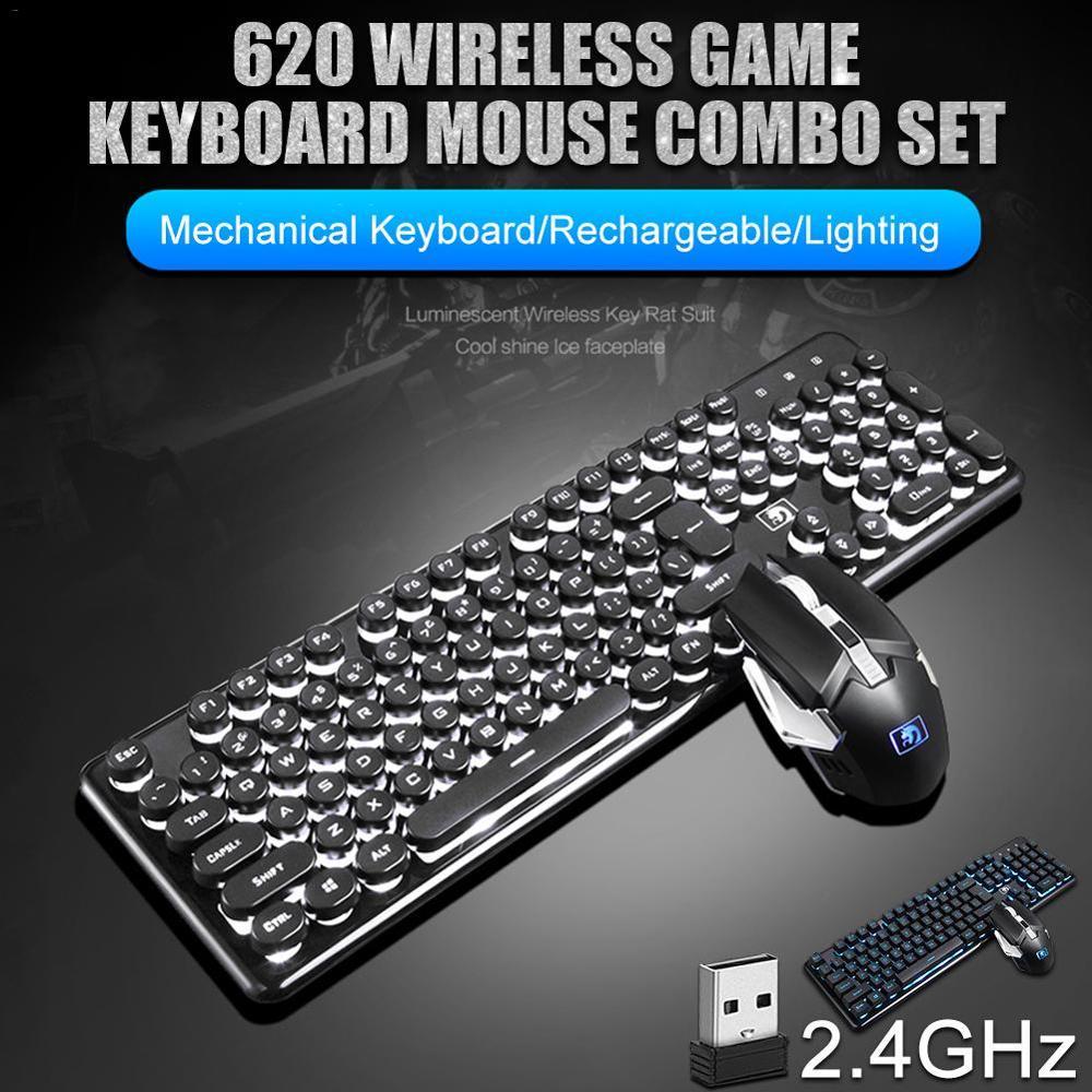 Cobra sem Fio Lidar com Teclado Xinmen Mamba Bluetooth Carregamento Luz-emitindo Jogo Escritório Teclado Mouse Conjunto Mecânico 620 24g