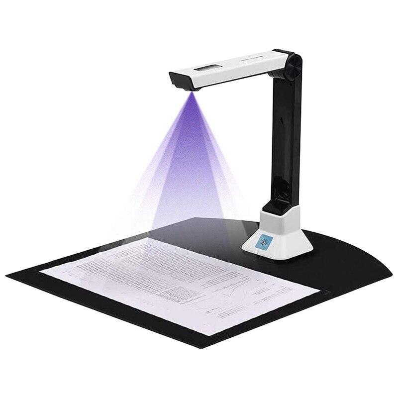 كاميرا للمستندات للمعلمين ، محمول USB كاميرا للمستندات الماسح الضوئي مع حامل 8MP HD A4 تنسيق وثيقة كاميرا صور الماسح الضوئي