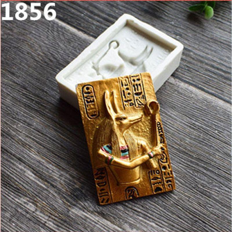 Faraón egipcio resina molde para fondant y silicona pastel decoración arcilla polimérica resina molde T4MD