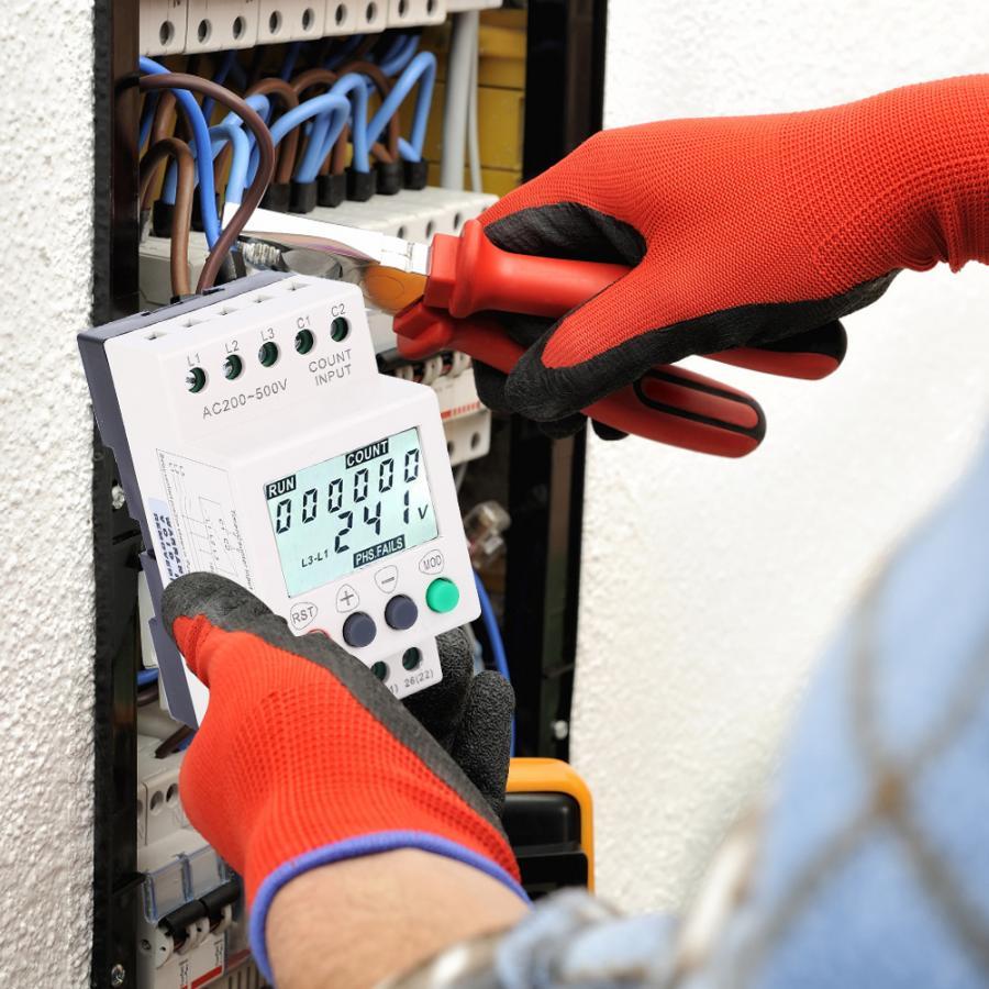 Fase de protección relé de RD6-W pantalla LCD bajo sobre voltaje de secuencia de fase Protector 3 Fase Monitor de tensión de