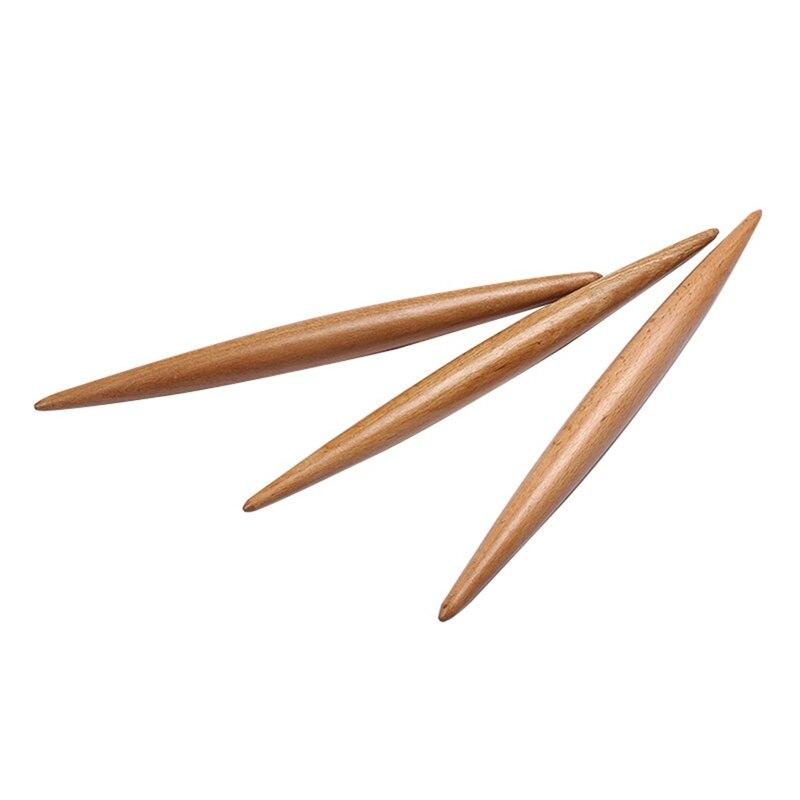 Doble punta rodillo de madera hornear galletas fideos, galleta Fondant pastel masa rodillo grabado Pasta Dumpling piel rodillo