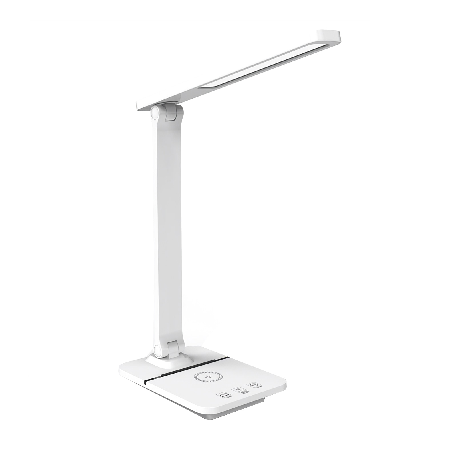 LED لمبة مكتب للطي مكتب ضوء لاسلكي شحن مصباح مصباح منضدة قابل للشحن ضوء الليل مع منفذ شحن USB