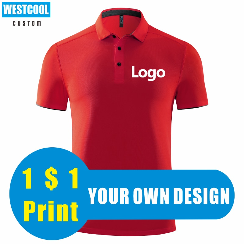 High-Quality Sports Quick-Drying Polo Shirt Custom Logo Embroidery Personal Design Brand T Shirt Printed Picture ONECOOL custom embroidery personalised polo shirt full color text logo print work uniform workwear company design your own polo