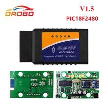 Оборудование для диагностики ELM327 V1.5 PIC18F2480 чип ELM327 V 1,5 Bluetooth для Android OBD2 сканер диагностический инструмент ELM 327 OBD-II