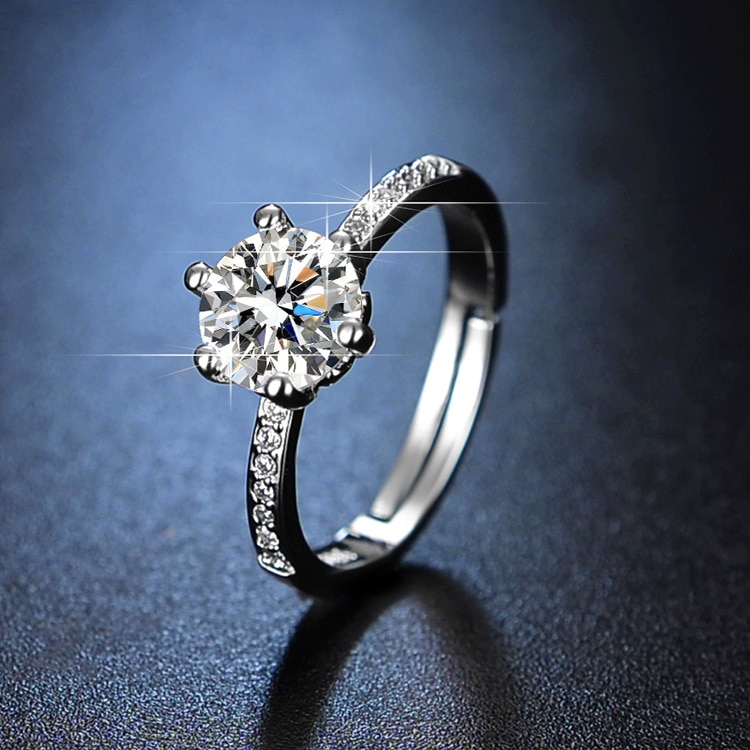 925 Ring Jewelry for Women Engagement Ring Fine Jewelry Resizable Rings Diamond Rings for Women