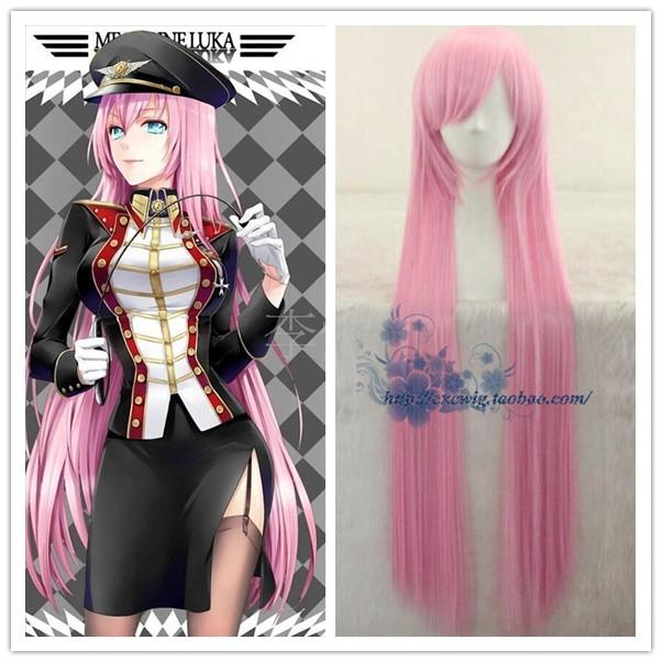 "100cm/39"" Japan VOCALOID Megurine Luka pink cosplay wig Long pink straight hair Collection Kisaragi cosplay hair wig"