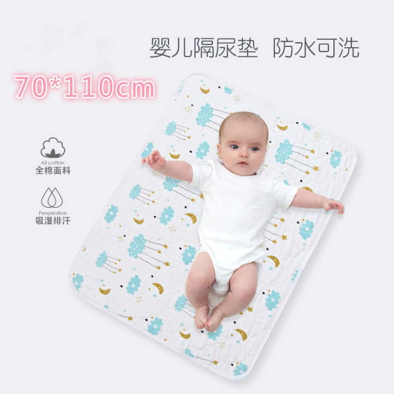 70*110CM Baby Diaper Changing Mat Baby Portable Foldable Washable Waterproof Mattress Travel Mat Reusable Cushion Cover