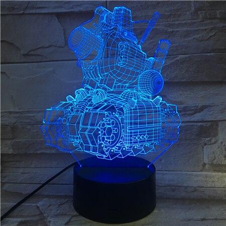2019 Горячая продажа 3D лампа с сенсорным сенсором металлический резервуар для Слизней изменение цвета с пультом дистанционного управления д...