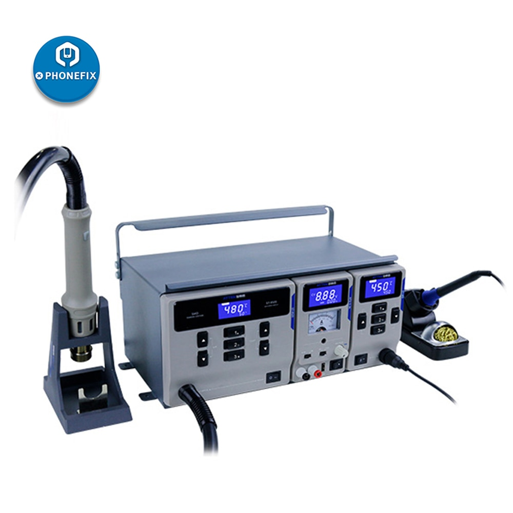 Estación de Reparación de soldadura 3 en 1 de ATTEN MS-300 SMD, sistema de mantenimiento para soldar, desoldar, fuente de alimentación DC, conjunto de reparación