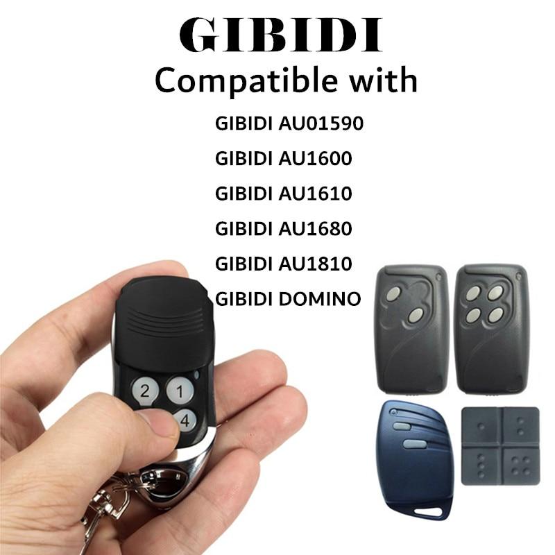 Запасной ключ GiBiDi AU1600 GiBiDi для гаража, совместим с домино, дистанционное управление для дверей гаража, код клонирования
