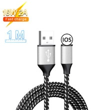 18W 2A Fast Charging Cable Type-C Micro USB Data Sync Braided Rope Charging Cord For IPhone Samsung