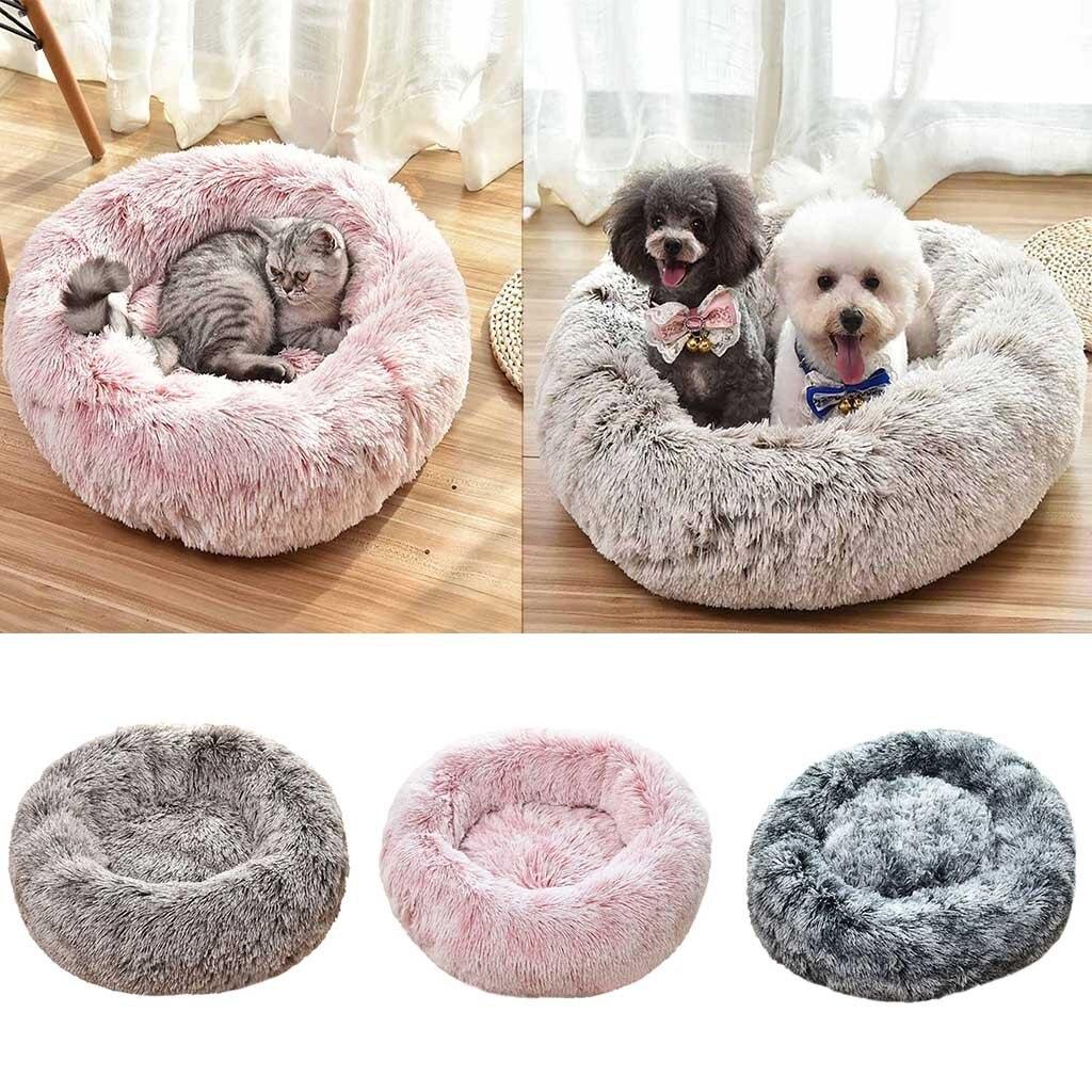 Saco de dormir caliente para invierno para perros y gatos, cama suave de felpa larga para mascotas, cama para perros de felpa y cama antideslizante, envío directo #91835