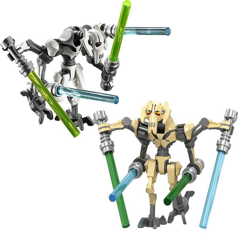 Star Wars General Robot Grievous With Lightsaber Battles Droid Model Building Block Toys Gift For Children Construction Technic