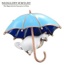 Neoglory 2020 mode lavement Umbrela et chat forme animaux broches pour les femmes de haute qualité nouveau Design cadeau pour ami pour la mère
